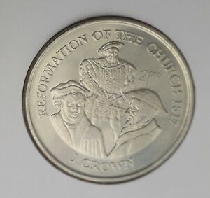 """Isle of Man 1998 Crown coin """"Reformation of the Church 1517"""""""