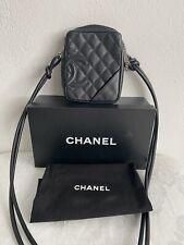 Chanel Cambon Crossbody Bag Tasche Leder Schwarz