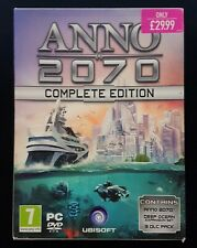 Anno 2070 Complete Edition - Includes Expansion & 3 x DLC - PC - NEW (Box Wear)