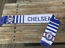 Chelsea FC Football Club Soccer Scarf Blue White Great Condition 2 sides