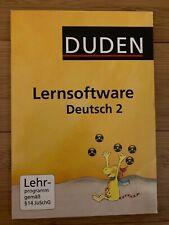 DUDEN Lernsoftware Deutsch Klasse 2