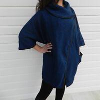 Women Wool Overcoat Jacket Outerwear Winter Ladies Blue Size 8 10 12 14 NEW Sale