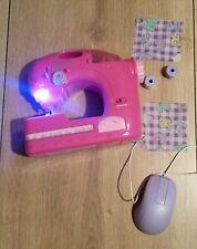 Elektrische Kinder-Nähmaschine Kindernähemaschine Pink Mädchenspielzeug TOP