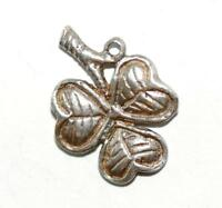 Shamrock Sterling Silver Vintage Bracelet Charm by Chim With Gift Box 1.1g