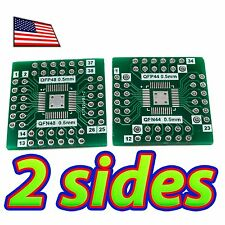 [2x] Double Sided SMD QFN-44/QFN-48 Breadboard Adapter Breakout PCB Converter