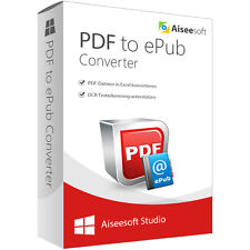 PDF to ePub Converter Aiseesoft lebenslange Lizenz Download 29,- statt 45,- EUR