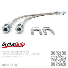BRAIDED STAINLESS BRAKE HOSE DISC BRAKE FRONT KIT [HOLDEN HD-HR/X2] SILVER