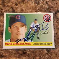 Mark Grudzielanek Signed 2004 Topps Heritage Auto Chicago Cubs