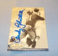Andy Robustelli Signed Autographed 1994 Ted Williams Card Company NY Giants HOF