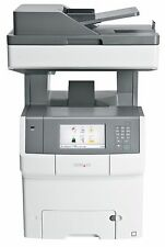 Very Low Print Count Lexmark X746de All-In-One Colour Laser Printer Copier