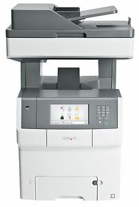 As new Lexmark X746de All-In-One Colour Laser Printer Copier Low Print Count