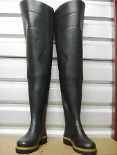 Rare French Le Chameau Oceane Rubber Hip Waders US 9 UK 8 EU 42 New Watstiefel
