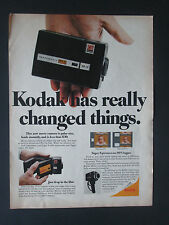 Kodak Instamatic Movie Camera Vintage Original 1966 Print Ad
