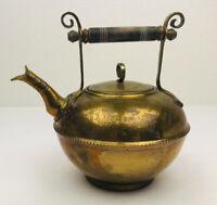 Mottahedeh Design Solid Brass- British TEAPOT-Wood Handle Vintage