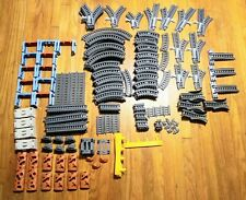 Huge Lot of 233 Thomas and Friends Trackmaster Builder Gray Train Tracks Plus