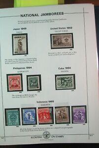Boy Scout Stamps Nat'l. Jamboree Japan, Philippines, Indonesia 1949-55 Mint H185