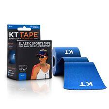 KT Tape Elastic Sports Tape, Blue, PreCut Strips, 14ct 893169002547S560