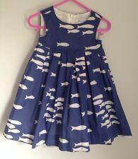 Rachel Riley Royal Blue Fish Dress Nautical Sun Size 6 Months Baby Worn Once