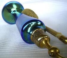 Art glass Steuben blue Aurene atomizer perfume bottle