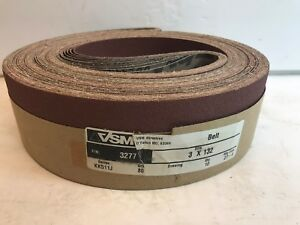 132 Length VSM 1474 Abrasive Belt 4 Width Coarse Grade Brown Pack of 10 Cloth Backing 50 Grit Aluminum Oxide