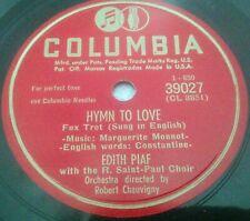 EDITH PIAF 78 RPM NEAR MINT SUNG IN ENGLISH