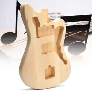 DIY Unfinished Jazzmaster Electric Guitar Body Basswood Guitar Parts Replacement