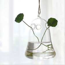 1pc Clear Flower Hanging Vase Planter Terrarium Container Glass Home Party Decor