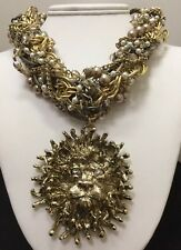 Chunky Lion Necklace by Gabriele Frantzen. Limited edition.