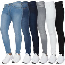 New ENZO Mens Designer Stretch Super Skinny Jeans Denim Pants All Waist Sizes