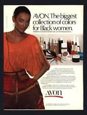 VINTAGE PRINT AD BLACK AMERICANA 1978 AVON COLLECTION COLORS FOR BLACK WOMEN