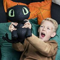 DreamWorks Dragons Squeeze  Growl Toothless 10-Inch Plush with sounds