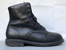 Rare Doc DR MARTENS ALVIS Black Oil Leather Boot US 14 UK 13 8 Eye Combat Chukka