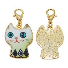 df0ef6d56 8pcs Mixed-Colors Alloy Enamel Cat Pendant Dangle Charms DIY Jewelry  Accessories