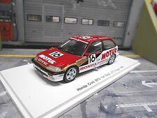 HONDA Civic EF3 Racing #16 JTC Sugo 1989 Motul Grp3 Nakako Suzuki Res Spark 1:43
