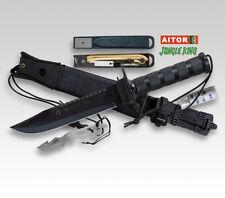 Aitor Jungle King i black Bushcraft viajes cuchillo muchos accesorios beimesser Outdoor