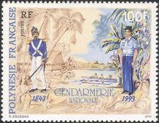 Polinesia FRANCESE 1993 Polizia/LEGGE/ordine/Uniformi/alberi/Barche 1 V (n30297)