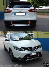 Spoiler 2 under bumper Nissan Qashqai (J11) front+rear with sensors