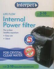 Interpet Life Flow Internal Power Filter for 3-10 Gallon Aquariums - NEW