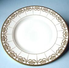 "Waterford Harcourt Gold Accent Salad Luncheon Plate 9"" Made In England New"