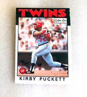 1986 O-Pee-Chee Set Break #329 Kirby Puckett Hall of Famer Baseball Card! VG OPC