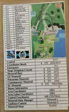 VINTAGE WALT DISNEY MONORAIL CAST MEMBER DRIVER MAP GUIDE EPCOT SPUR LINE CALL #