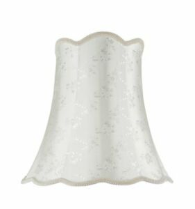 Aspen Creative 34002 Transitional Scallop Bell Shape Spider Lamp Shade