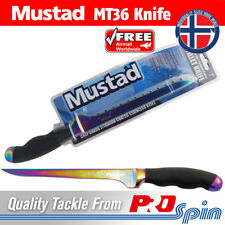 """Mustad Fillet Knife - 7"""" Titanium Coated Stainless Steel Blade Fishing Knife"""
