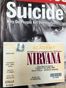 Rare Genuine Nirvana Ticket London Brixton Academy Show 5th April 1994