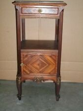 Antique French Louis XVI marble top stand