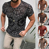 Men's Short Sleeve Gym Sports T Shirt Fitness Workout Quick Drying Tops Blouse