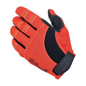Biltwell Moto Gloves, Motorcycle Gloves, Orange-Schwarz-Gelb SIZE XS