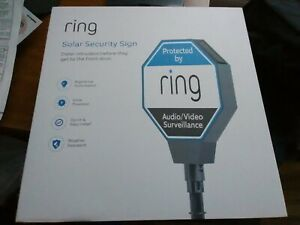 RING SOLAR SECURITY SIGN WEATHER RESISTANT DETER INTRUDERS EASY INSTALL SAVE $$$