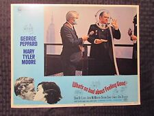 """1968 WHAT'S SO BAD ABOUT FEELING GOOD 14x11"""" Lobby Card #2 FN+ George Peppard"""