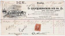 RARE Advertising Billhead Knickerbocker Ice Company 1868 Brooklyn New York Wagon